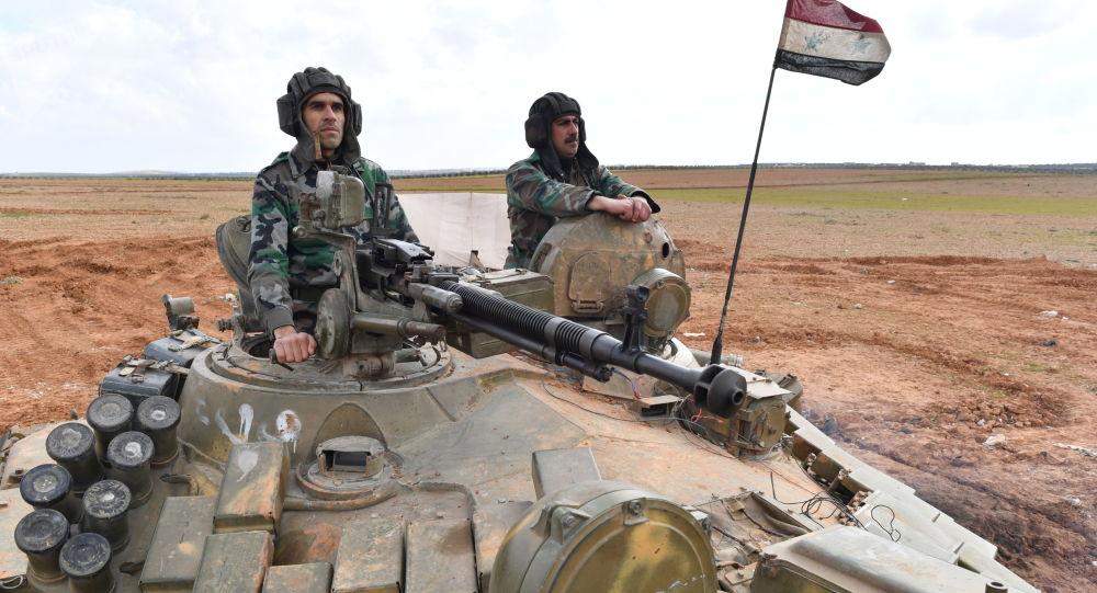 Vojáci syrské armády v provincii Aleppo.