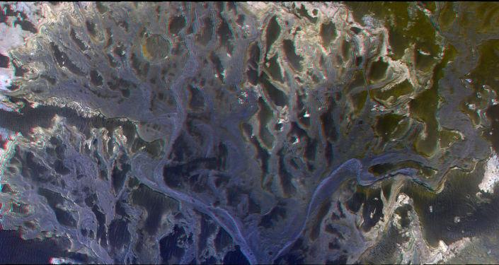 Kráter Eberswalde na jižní polokouli Marsu