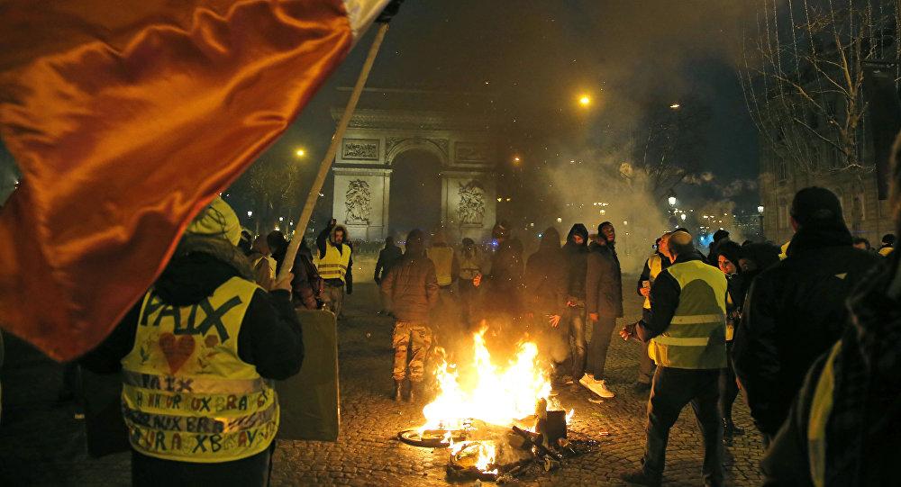 Protesty žlutých vest. Paříž, 5. ledna 2019