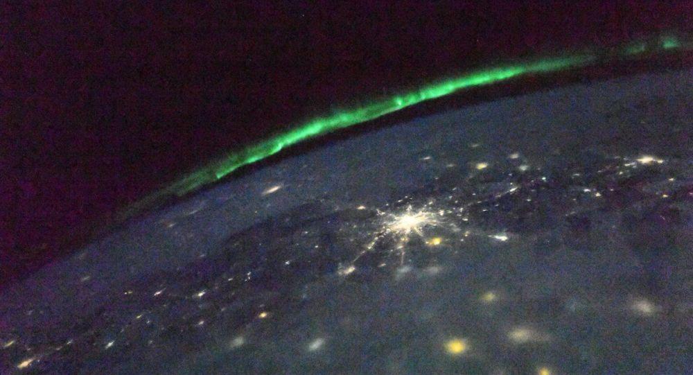 Polární záře z ISS