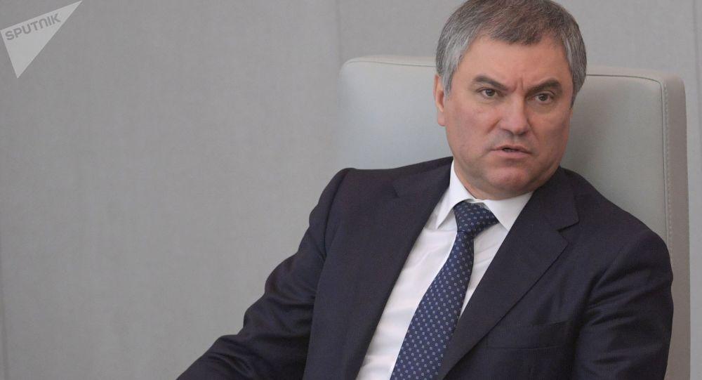 Předseda Státní dumy Vjačeslav Volodin