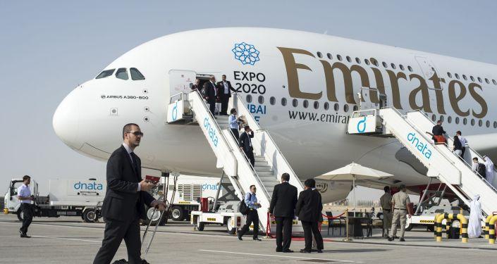 Dopravní letoun Airbus A380-800 v Dubaji