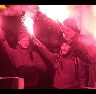 Ukrajinští nacionalisté protestovali proti krutosti policie