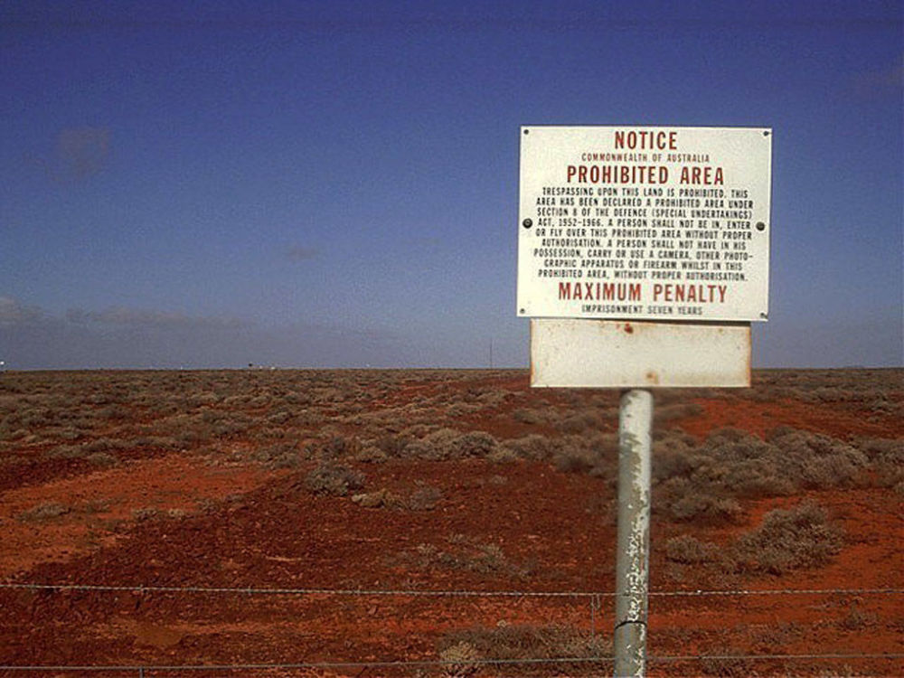 Zakázaná oblast Woomera, Jižní Austrálie