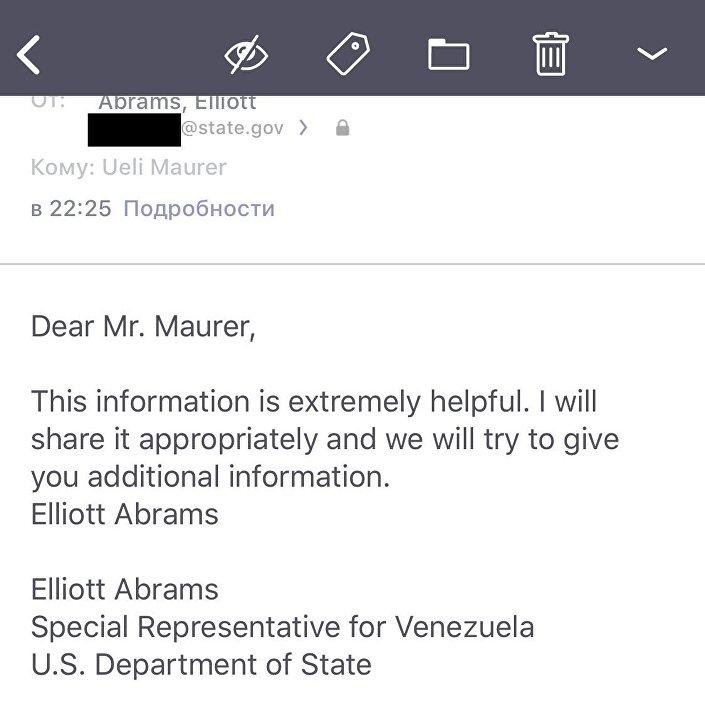 Odpověď Elliota Abramsa Kuzněcovovi a Stoljarovovi