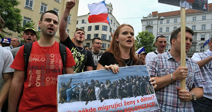 Protesty proti migrantům v Brně