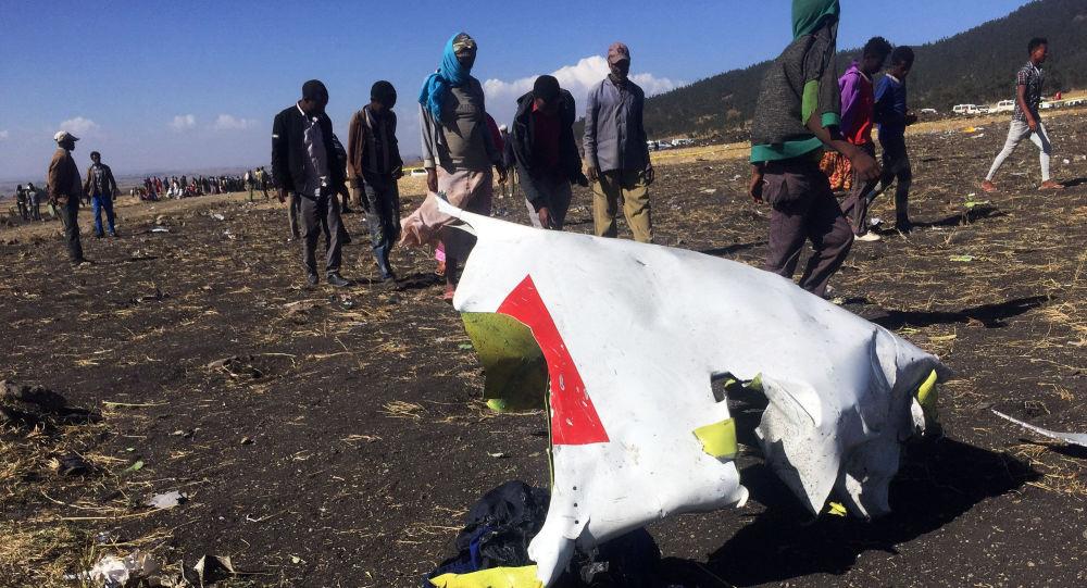 Místo havárie letadla Ethiopian Airlines