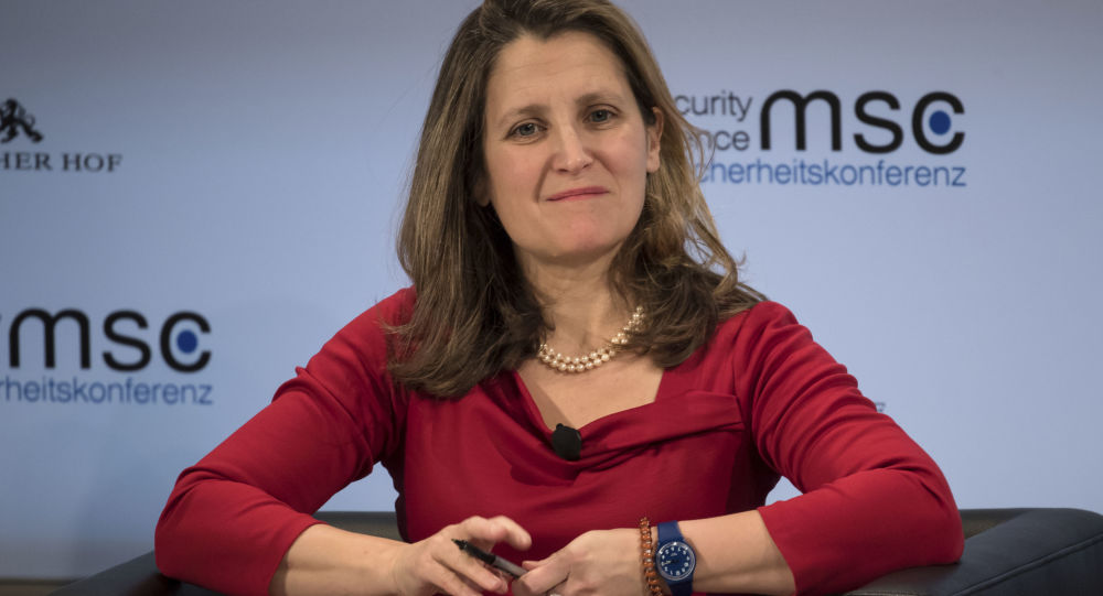 Kanadská ministryně zahraničí Chrystia Freelandová