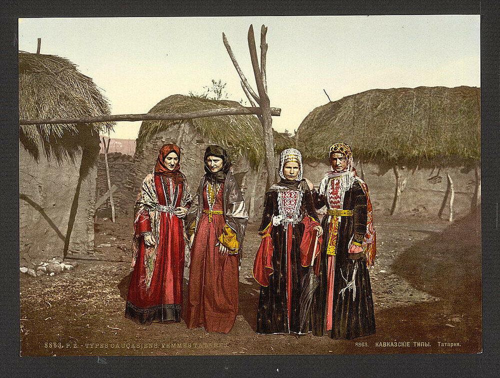 Tatarky. Jedna z prvních barevných fotografií Ruska.