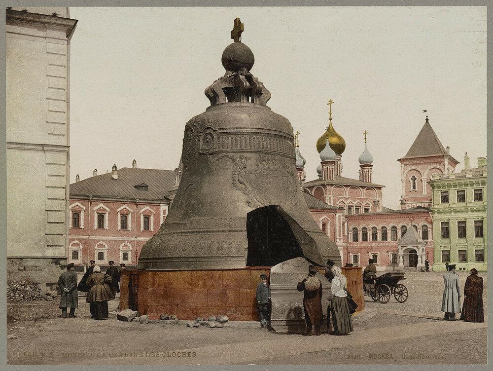 Car Kolokol v Moskvě. Jedna z prvních barevných fotografií Ruska.