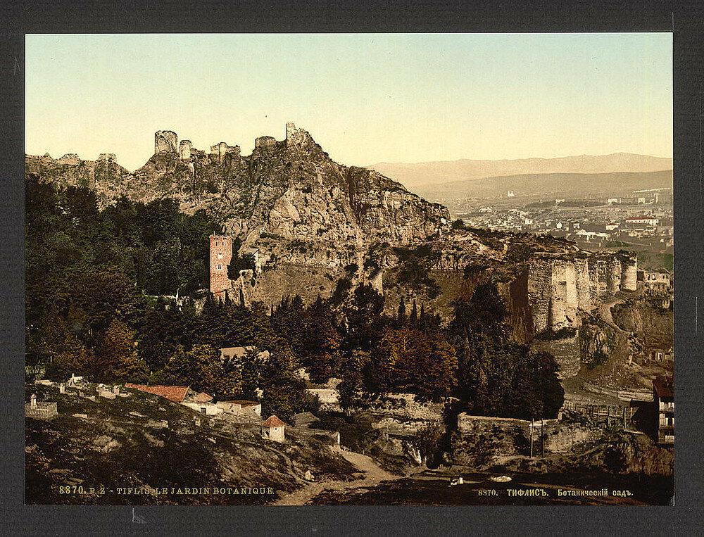 Pohled na Tbilisi. Jedna z prvních barevných fotografií Ruska.