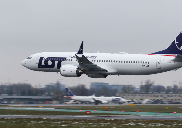 Letadlo Boeing 737 MAX 8 společnosti LOT
