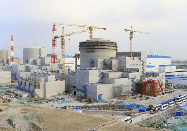 Stavba jaderné elektrárny Tianwan-2 v Číně