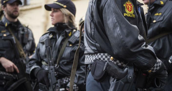 Policie, Norsko. Archivní fotografie