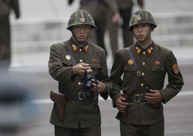 Severokorejští pohraničníci