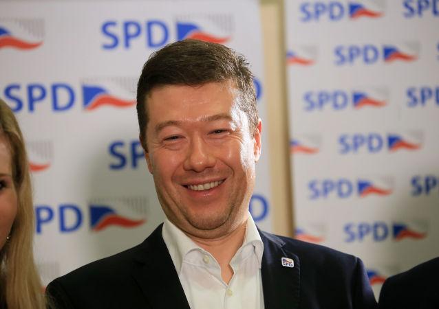 Šéf politického hnutí Svoboda a přímá demokracie  Tomio Okamura
