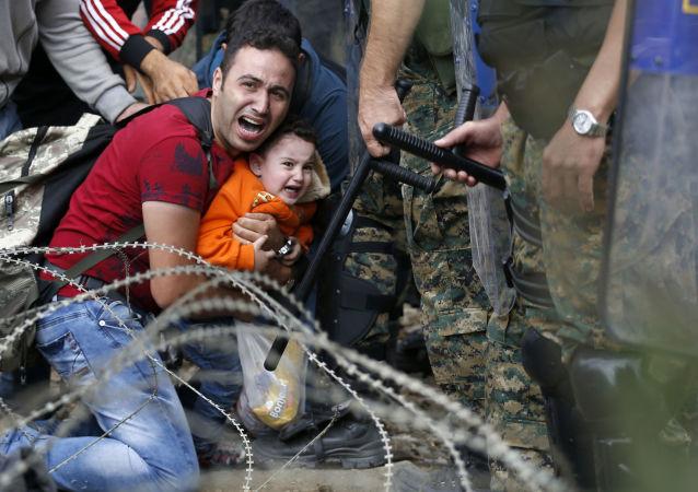 Střetnutí migrantů s makedonskou policií