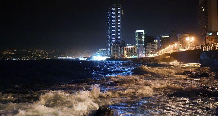 Nábřeží v Bejrútu, Libanon