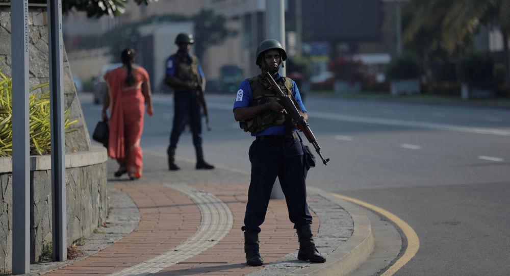 Srílanský voják v Kolombu