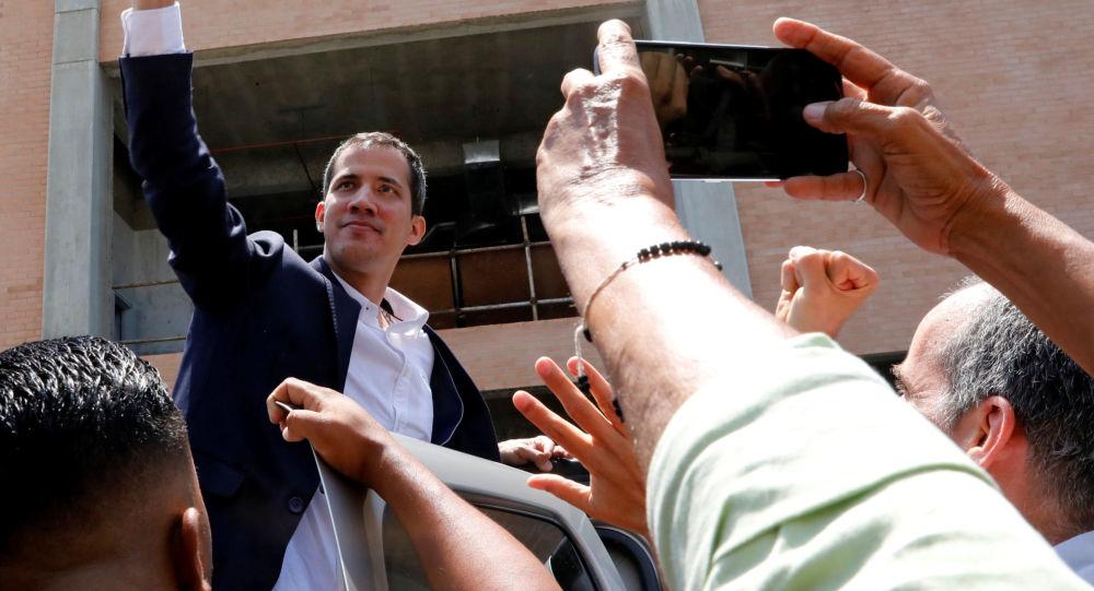 Vůdce venezuelské opozice Juan Guaidó