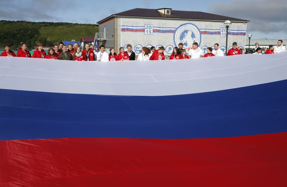 Dmitrij Medveděv se zúčastnil oslav Dne státní vlajky