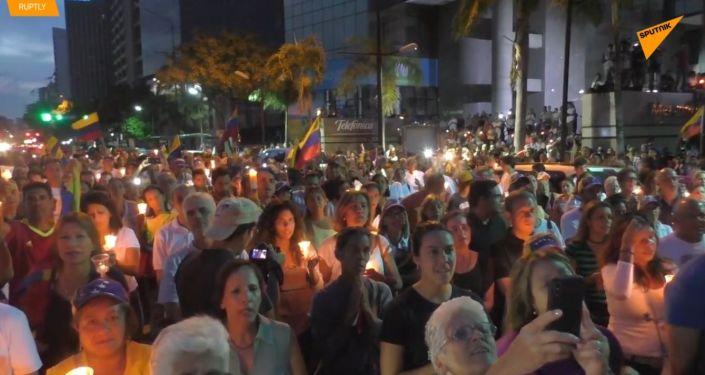 Ve Venezuele opozice organizovala památeční akci pro zabité demonstranty