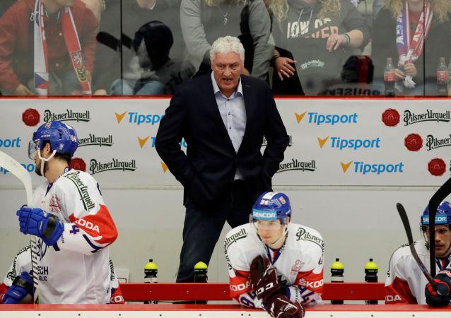 Trenér české reprezentace Miloš Říha