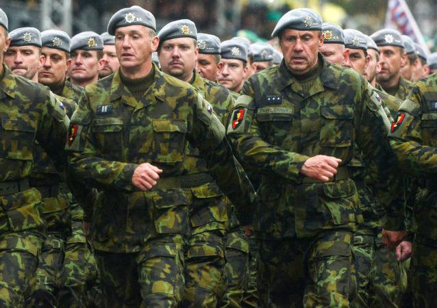 Přehlídka českých vojáků