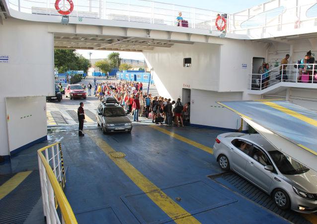 Trajekty přepravují jenom autobusy a auta