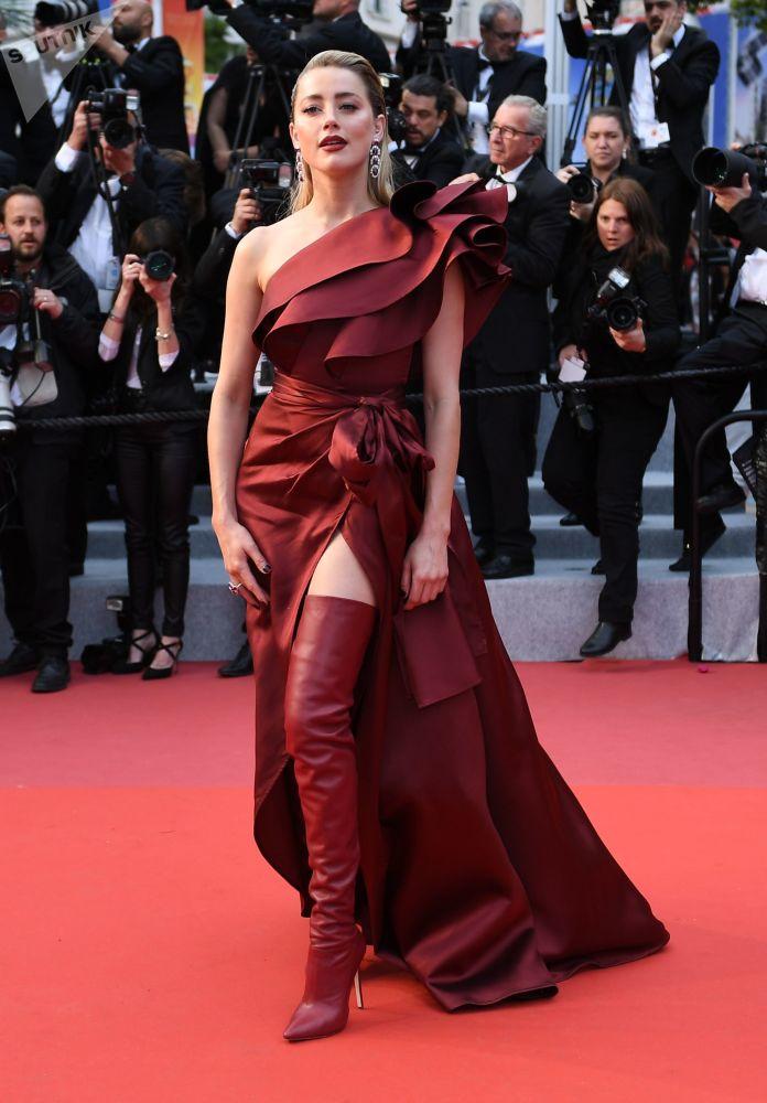 Americká herečka Amber Heard během 72. filmového festivalu v Cannes.