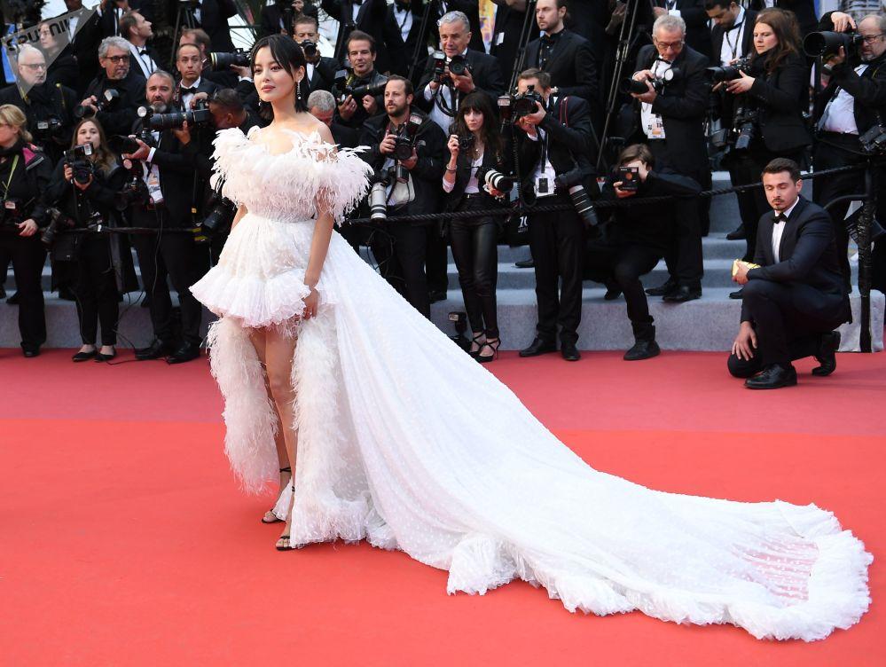 Hongkongská herečka Xin Zhilei během 72. filmového festivalu v Cannes.